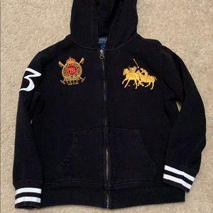 Boys large pony zip up hoodie